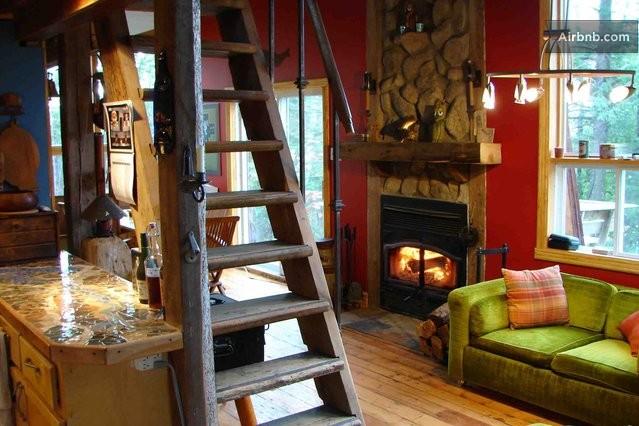 Salon Relax Foyer : Chalet rustique et sympathique in saint hippolyte