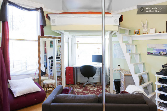 One of a kind cozy loft studio in san francisco for One of a kind beds