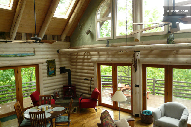 Log Home bathed in Natural Light in Fairview