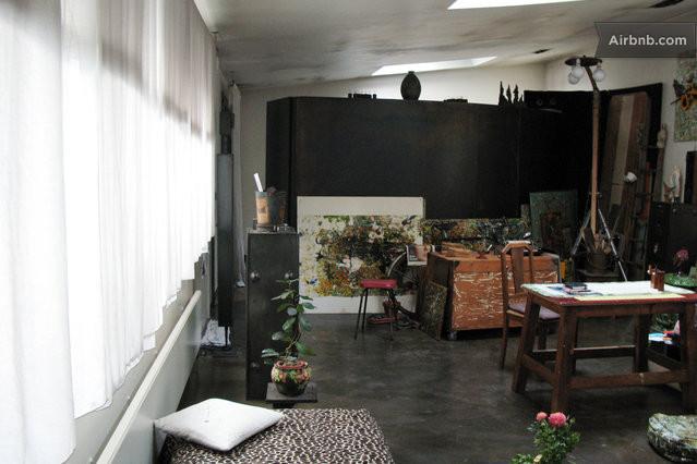 Appartment loft atelier artiste in paris for Loft atelier artiste