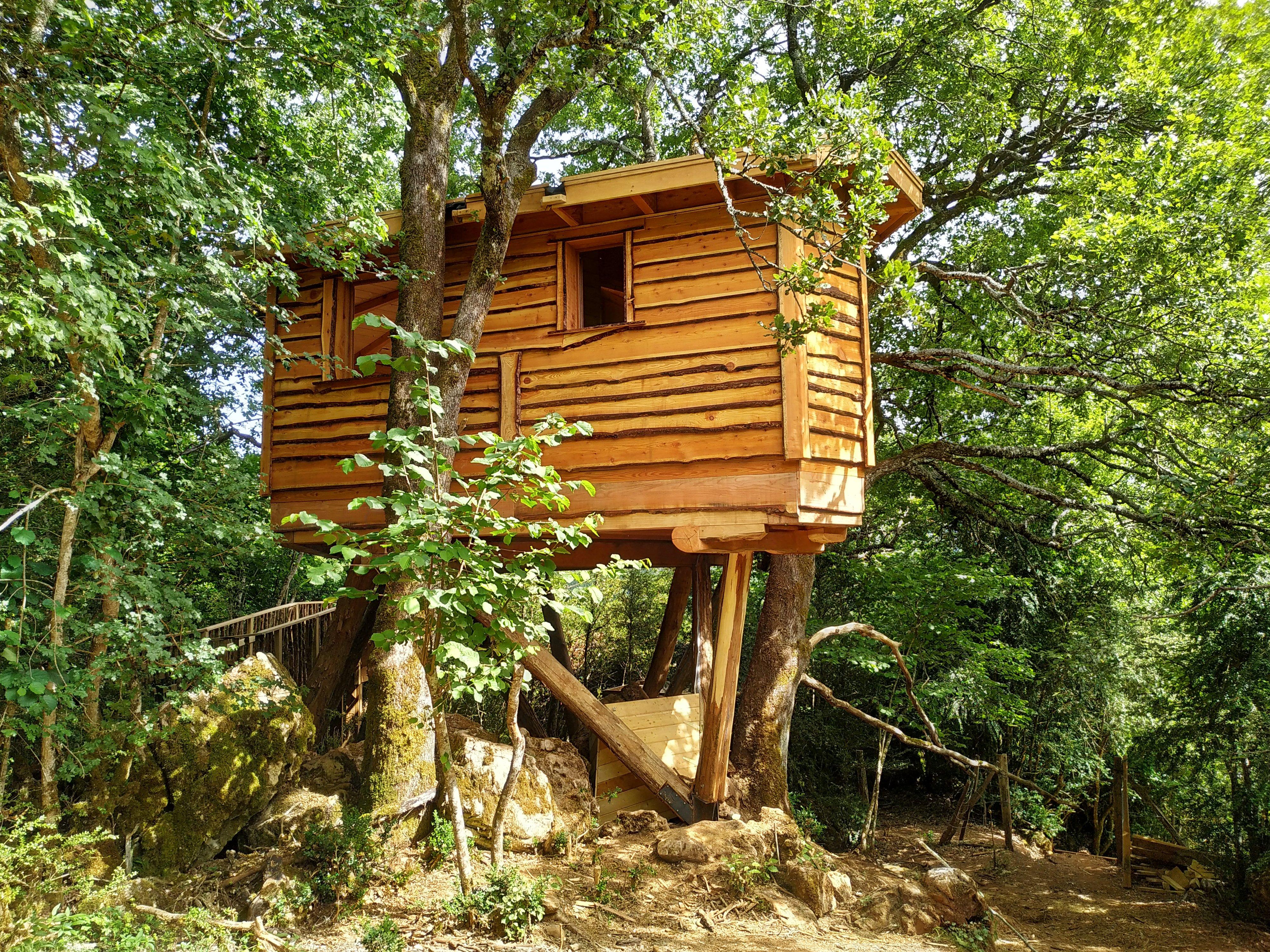 Cabañas En Los árboles En El Pirineo De Navarra Casas Na árvore Para Alugar Em Villanueva De Arce Navarra Espanha