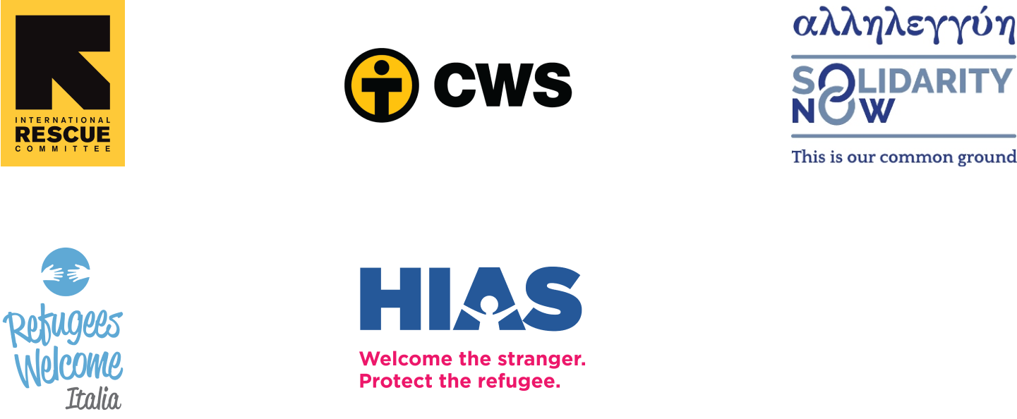 Partners of the Open Homes program, including International Rescue Committee, Refugees Welcome, Solidarity Now, and others.