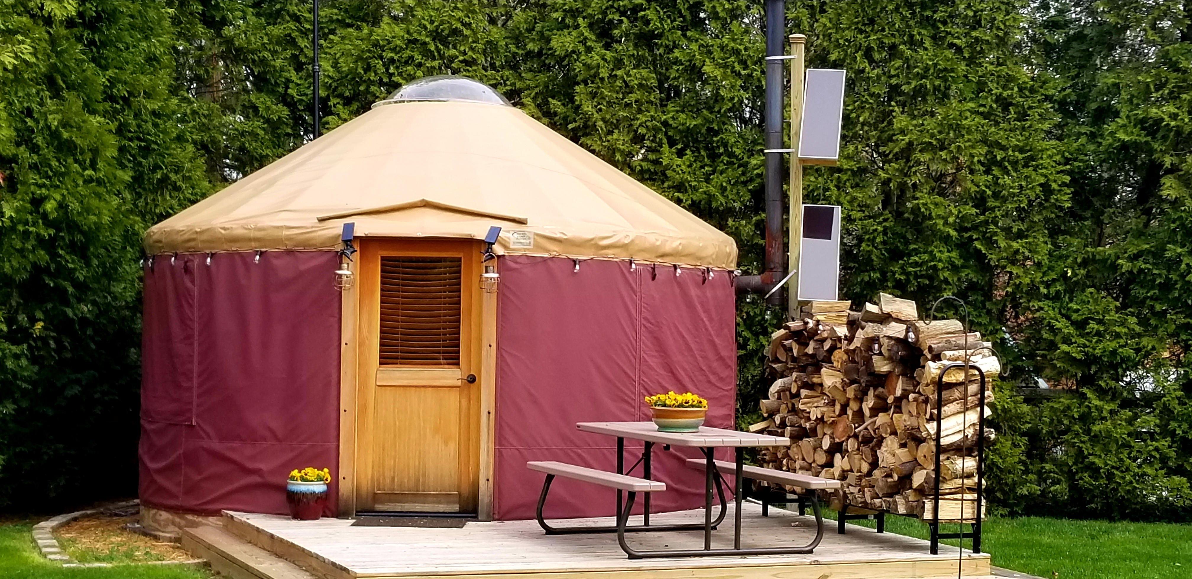 Enjoy Yurt Stay A Suburban Glamping Experience Yurts For Rent In Dayton Ohio United States The yaranga, used by peoples in the northern parts of russia, is a similar form of shelter. yurts for rent in dayton ohio