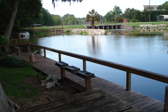 Old florida fish camp waterfront in leesburg for Florida fish camps
