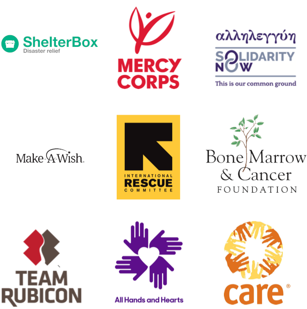 Socios del Programa Open Homes como Mercy Corps, Team Rubicon, SIGNA y Refugees Welcome, entre otros.