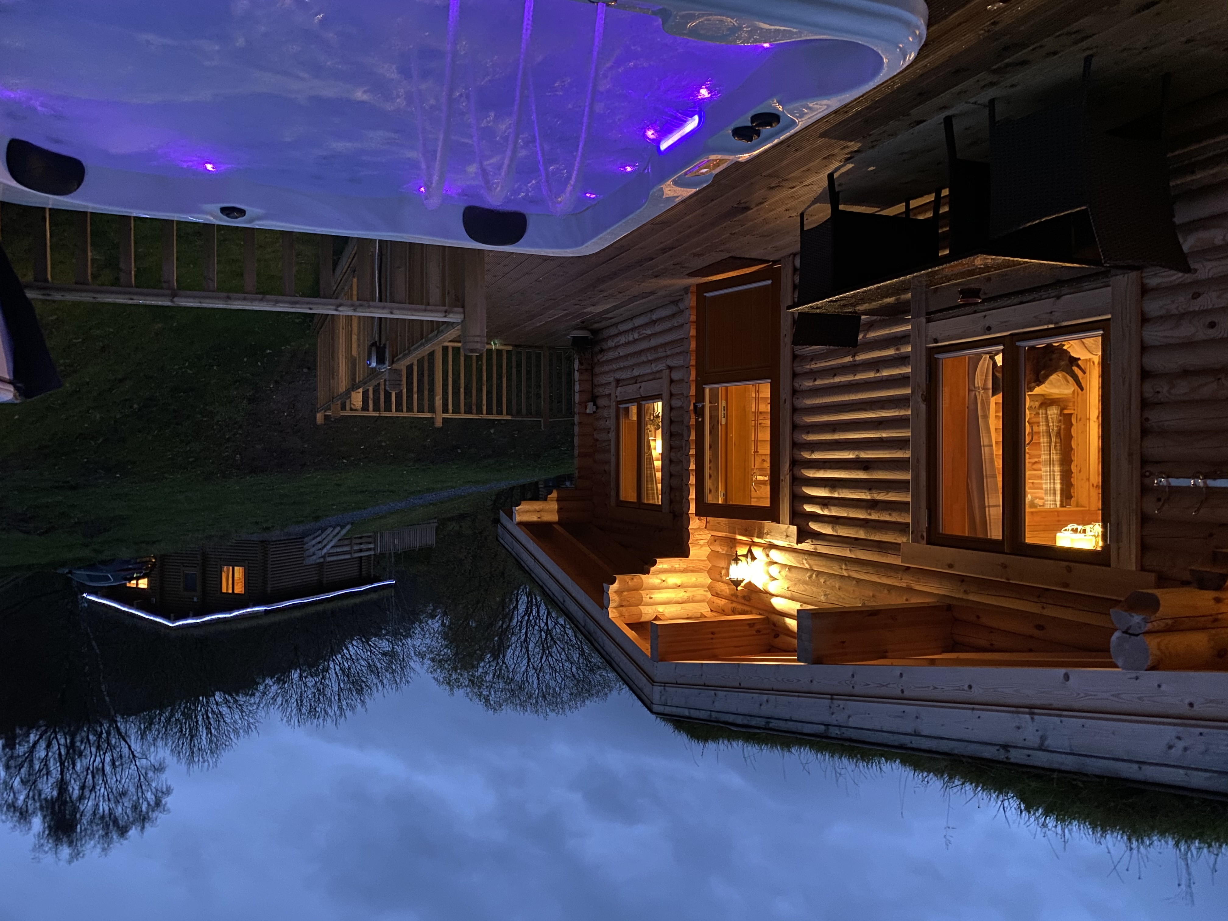 River Garry Lodges With Hot Tubs The Stable Cabins For Rent In Killiecrankie Scotland United Kingdom