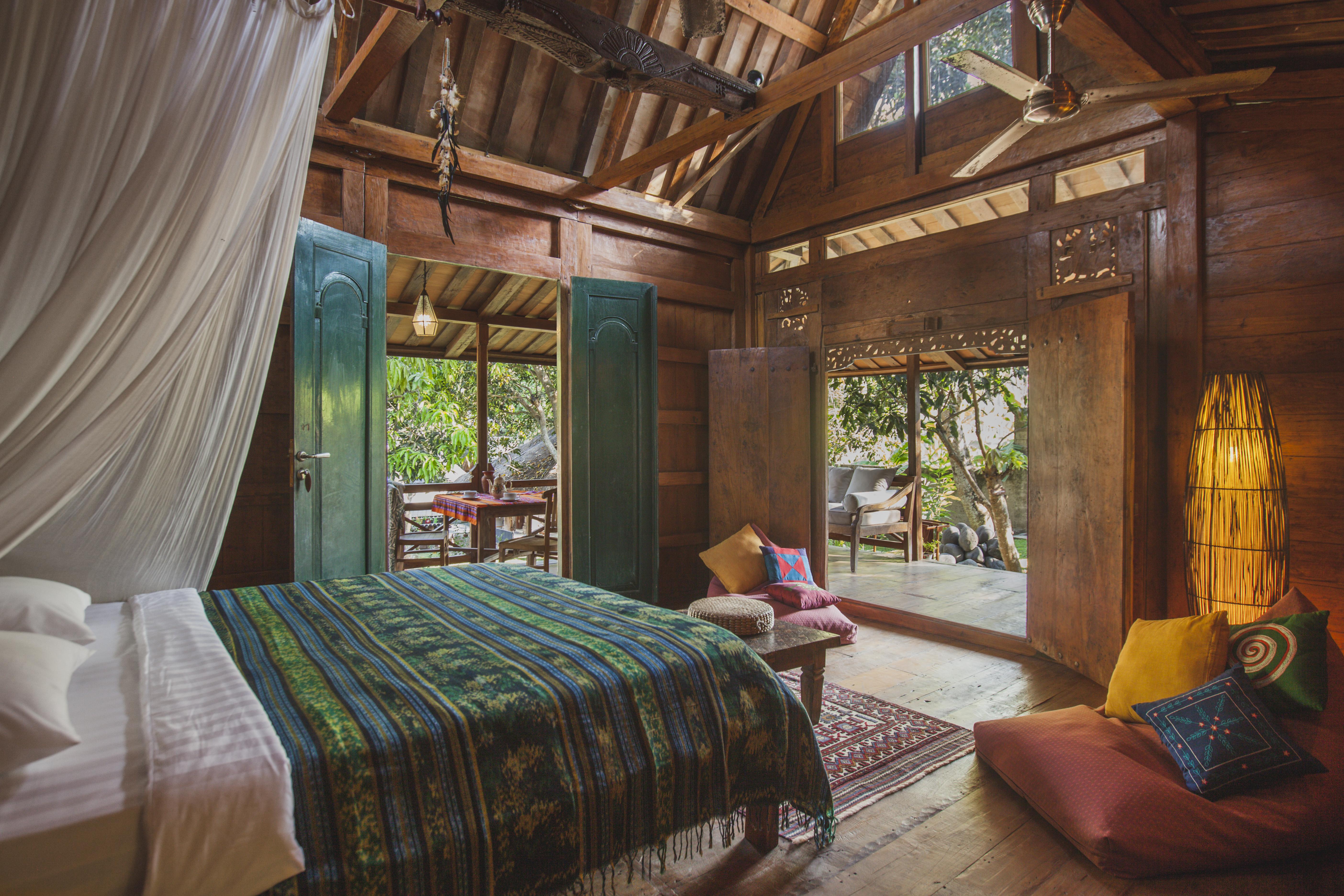 Ethnic Wooden House Villas For Rent In Kuta Utara Bali Indonesia