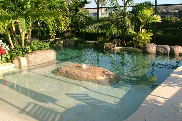 Split plan pool wheelchair access in sebastian Handicapped accessible swimming pools