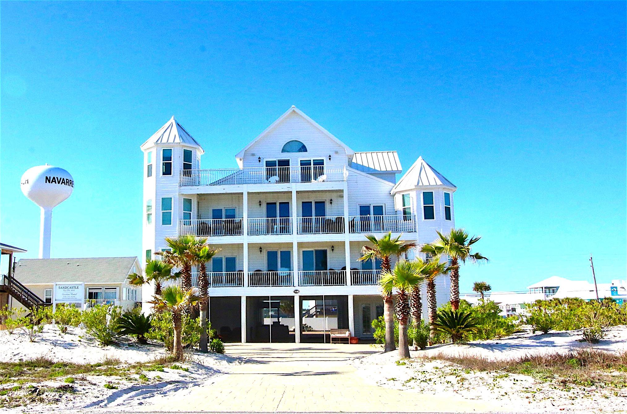 The Sandcastle - Navarre Beach, FL Sleeps 20+ - Castles for Rent in Navarre,  Florida, United States