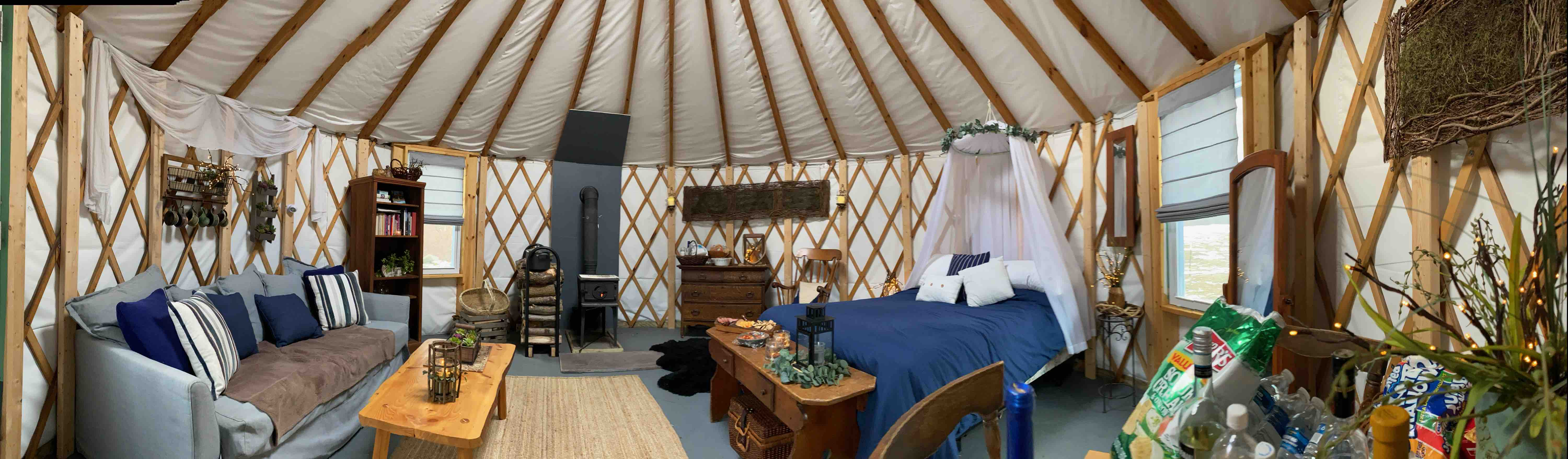 Yurt At The Farm Yurts For Rent In South Sterling Pennsylvania United States