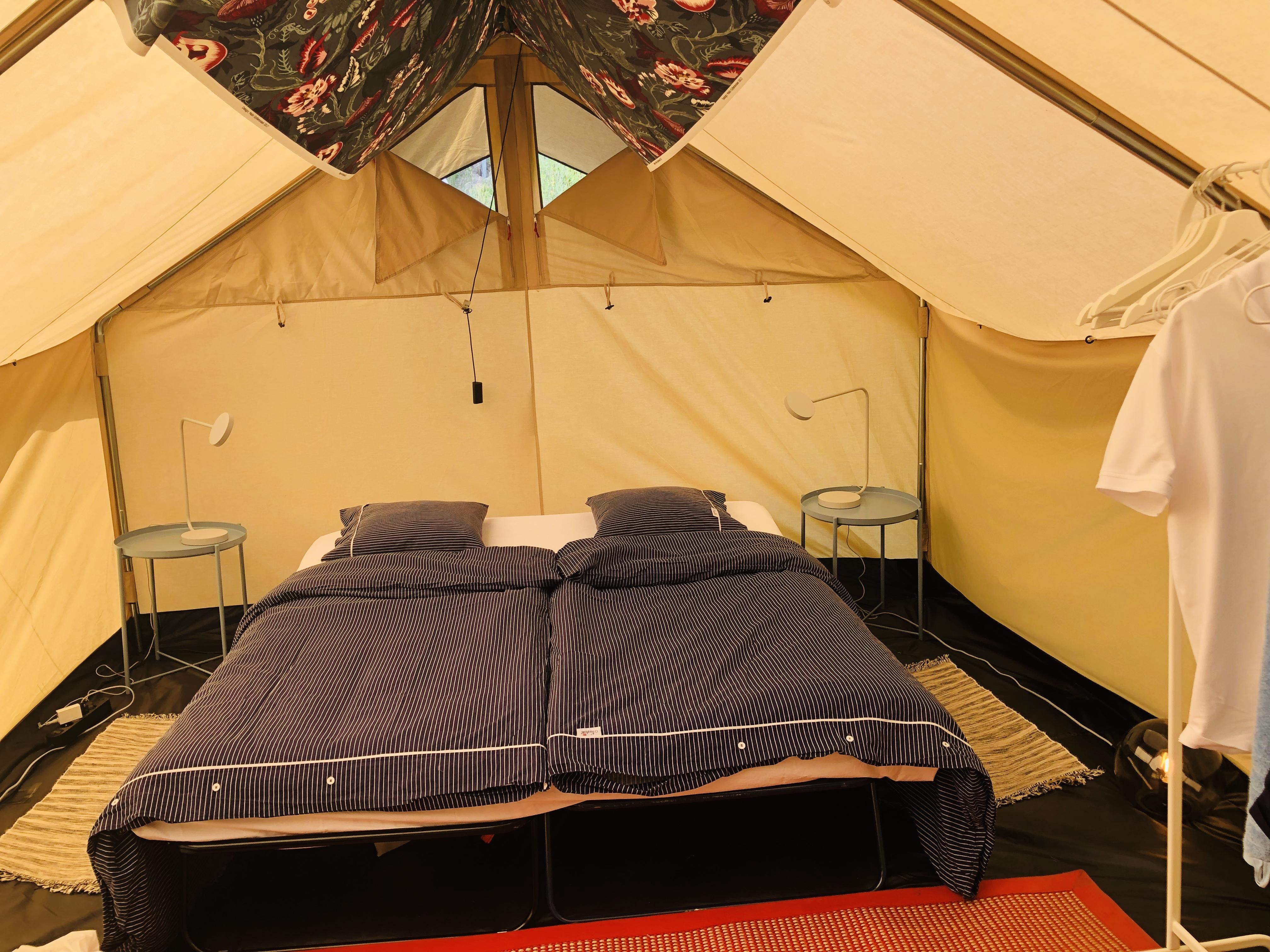 Glamping Torsång Canvas Hotel Tält att hyra i Borlänge Ö