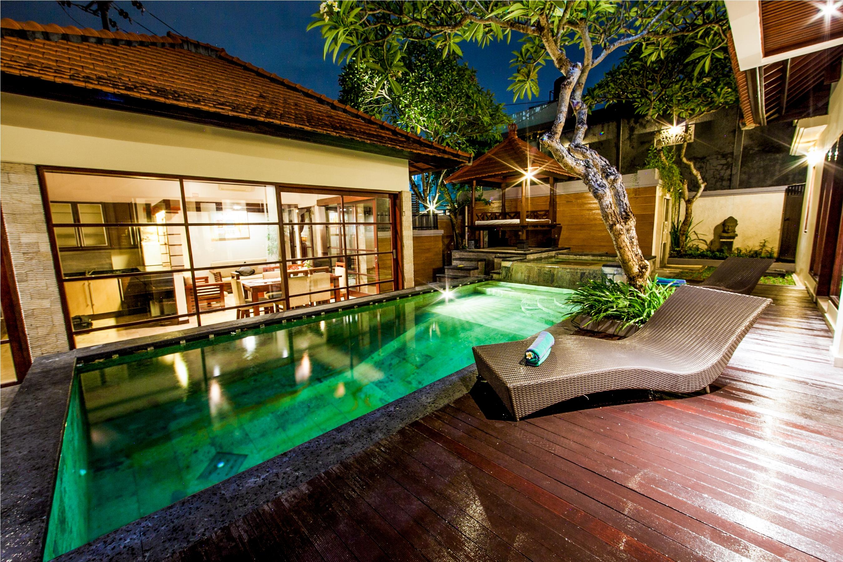 1 Bedroom Private Pool Villa Seminyak Villas For Rent In Kuta Utara Bali Indonesia