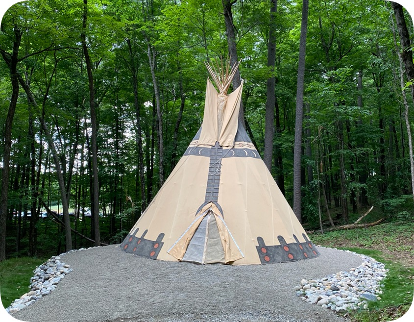 The Tipi At June Farms Tipis For Rent In West Sand Lake New York United States