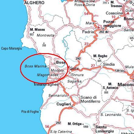 Cartina Sardegna Bosa.Villa Cristina Bosa Houses For Rent In Magomadas Sardegna Italy