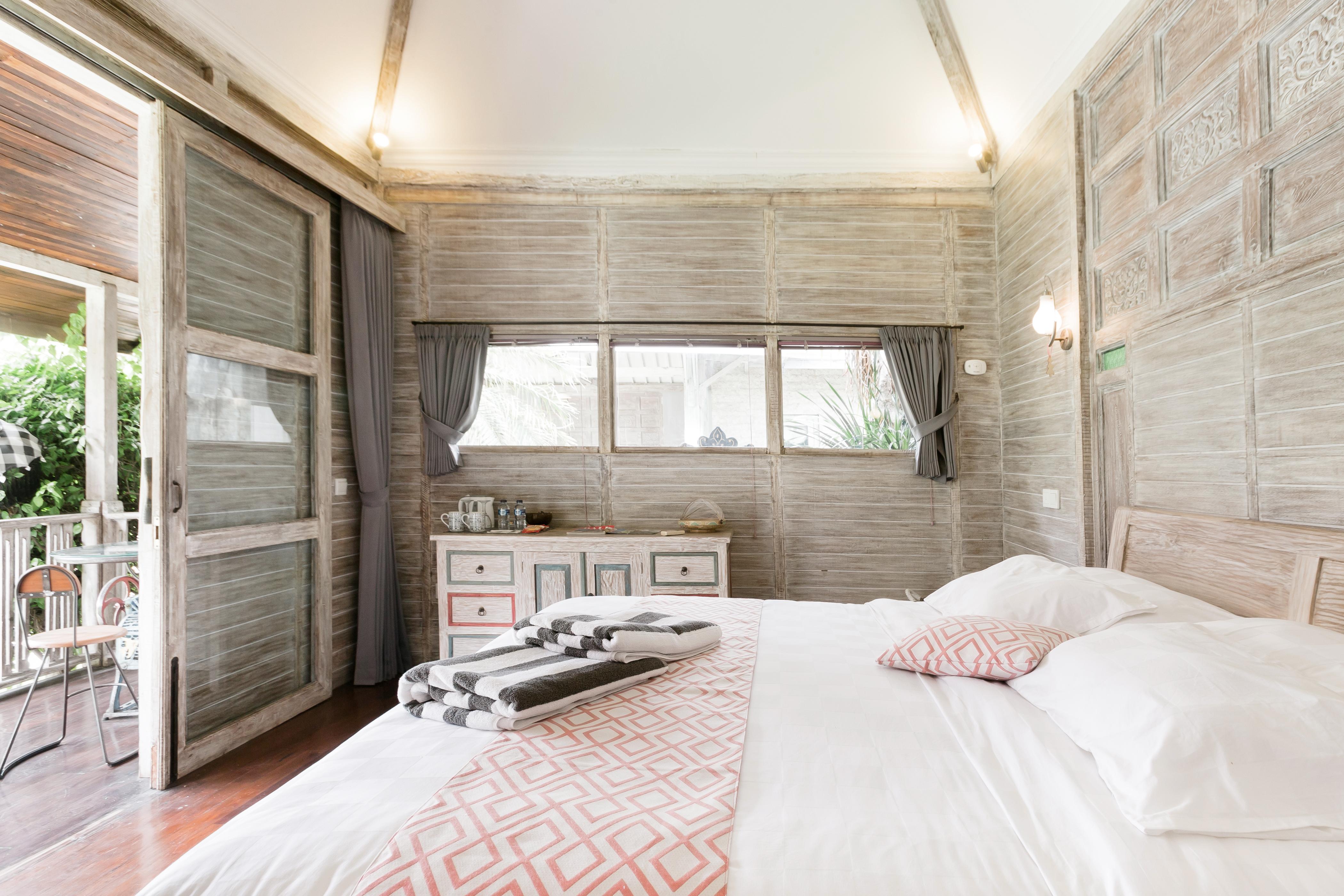 Chambre privée dans une villa balinaise avec petit-déjeuner inclus