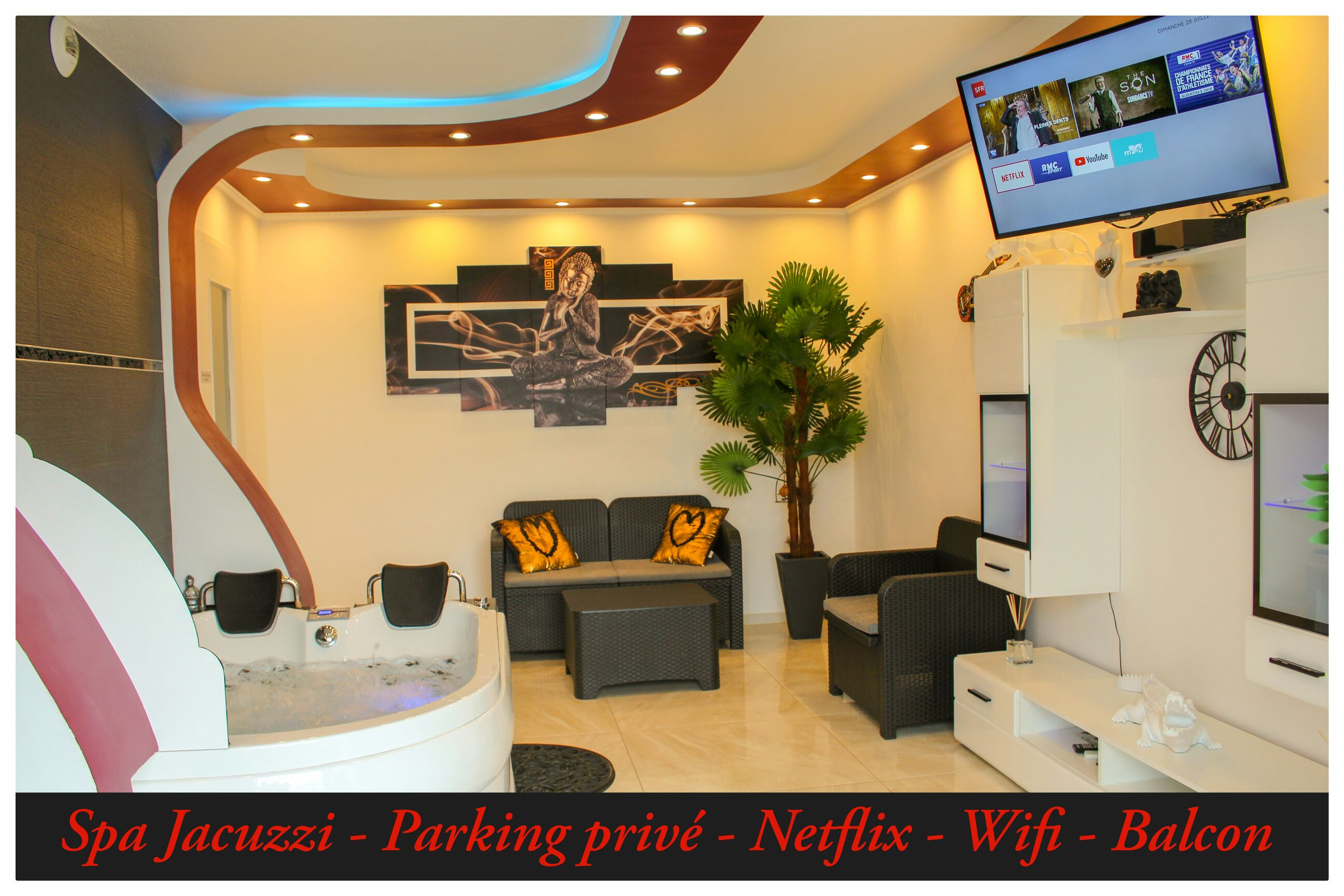 Suite Privatif Spa Jacuzzi Parking Wifi Netflix Flats For Rent